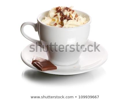 grated chocolate and cinnamon isolated on white background Stock photo © natika
