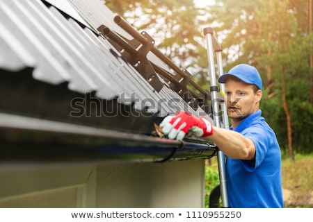 Stock photo: Rain gutter