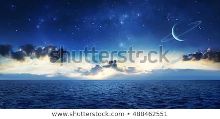 Bolygó űr kék valósághű felhők kontinensek Stock fotó © Hochwander