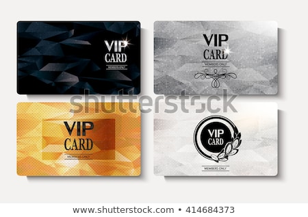 Gold member card Stock photo © liliwhite