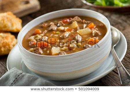 çanak · sığır · eti · fileto · pirinç · çorba · Çin · yemek · çubukları - stok fotoğraf © yelenayemchuk