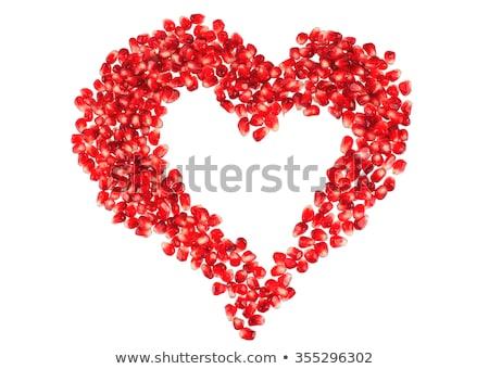 Symbool granaatappel zaden vorm teken verwijzing Stockfoto © leowolfert