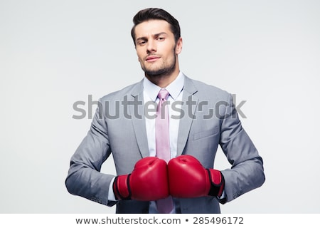 Boxing businessman Stock photo © jiri_miklo