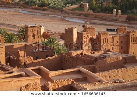 ストックフォト: 砂漠 · 手のひら · アフリカ · 文化 · 村 · 町