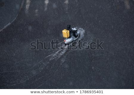 Snel auto hoeken auto poster Stockfoto © maxmitzu