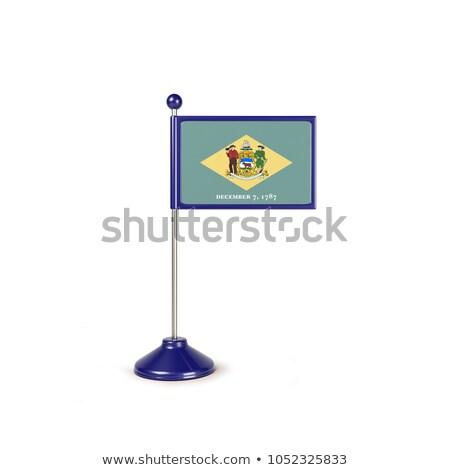 Delaware kicsi zászló térkép szelektív fókusz háttér Stock fotó © tashatuvango