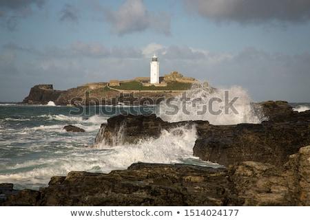 Farol costa cornualha céu água mar Foto stock © chris2766