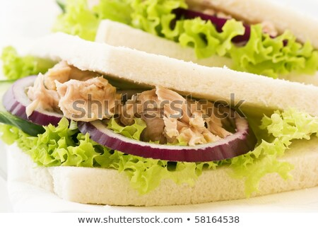 Sandwich with sauteed mushrooms Stock photo © zia_shusha