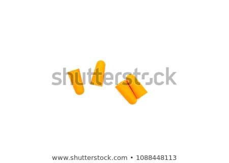 Oranje oor geïsoleerd witte kleur zorg Stockfoto © dezign56