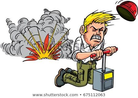cartoon dynamite burning Stock photo © lineartestpilot