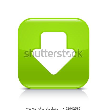 simgesi · indir · parlak · yeşil · düğme · beyaz · ok - stok fotoğraf © faysalfarhan