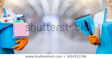 Huishoudelijk werk afbeelding schoonmaken keuken water witte Stockfoto © fantazista