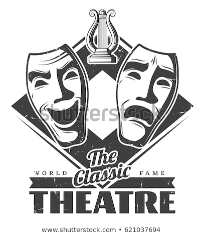 classical theater mask on a stage Stock photo © nito