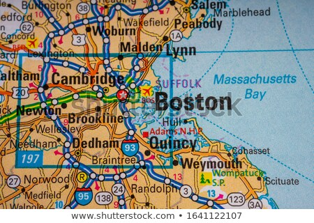 Stock photo: State of Massachusetts map pin