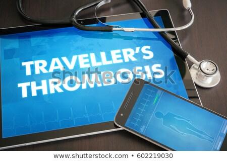 Thrombosis on the Display of Medical Tablet. Stock photo © tashatuvango