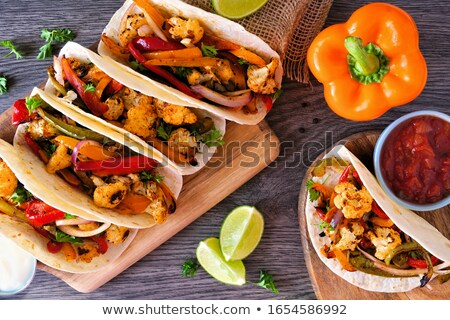 Fresh roasted or grilled vegetables with servers Stock photo © ozgur
