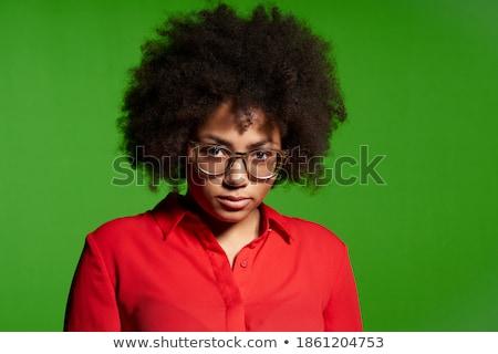 confundirse · jóvenes · África · mujer · portátil - foto stock © ichiosea