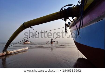 Tradycyjny żaglówce żeglarstwo horyzoncie turkus Zdjęcia stock © kasto
