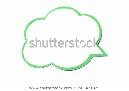 Cloudlet in the shape of a dialogue Stock photo © konradbak