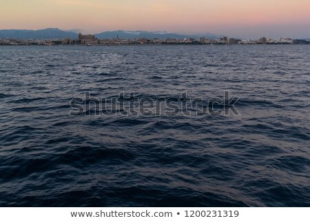 View of Palma de Mallorca with sea on horizon Stock photo © artjazz