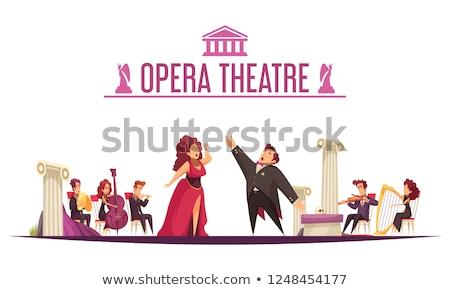 Opera şarkıcı sahne elbise yalıtılmış Stok fotoğraf © courtyardpix