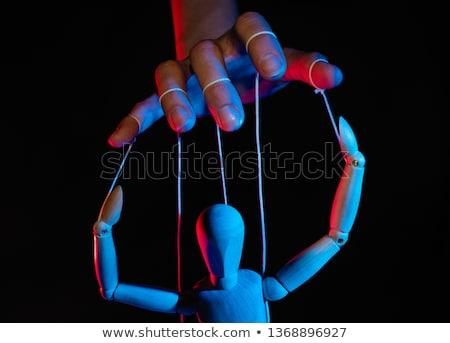Nő kéz irányítás férfi izolált üzletember Stock fotó © fuzzbones0