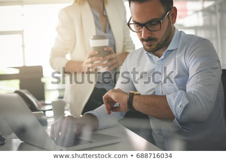 Stock photo: Business man looking at something