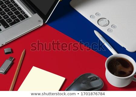 Tablet with Liechtenstein flag Stock photo © tang90246
