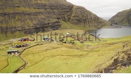 Paisagem em torno de desfiladeiro grama montanha Foto stock © Arrxxx
