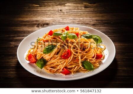 macaroni · kaas · heerlijk · gebakken · diner · pasta - stockfoto © nezezon