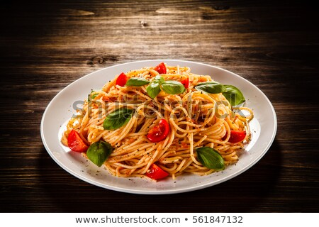 Foto stock: Italiano · macarrones · cena · pasta · frescos · comida