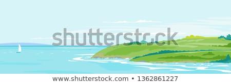 Wybrzeża krajobrazy bezszwowy poziomy niebo wody Zdjęcia stock © tracer