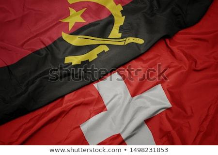Швейцария Ангола флагами головоломки изолированный белый Сток-фото © Istanbul2009