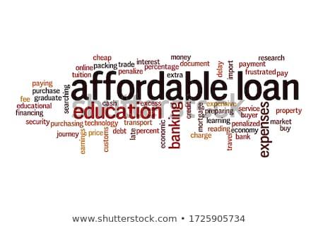 Lening woord brief blokken kinderen onderwijs Stockfoto © fuzzbones0