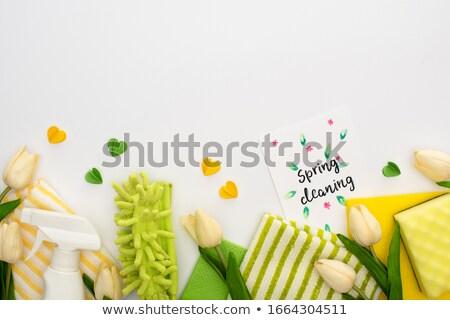 Temizlik şişe lale buket yeşil lâle Stok fotoğraf © stickasa