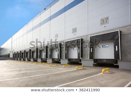 Dokk ajtók kettő raktár szállítás kereskedelmi Stock fotó © njnightsky