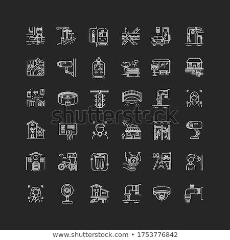 water · pijpleiding · schets · icon · pijp - stockfoto © rastudio
