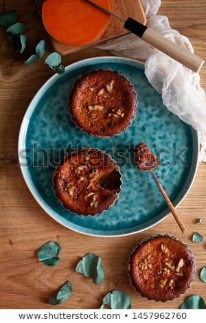 豊富な クリーミー カボチャ チーズケーキ 1 スライス ストックフォト © rojoimages