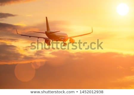Avião sol estilizado céu fundo Foto stock © tracer