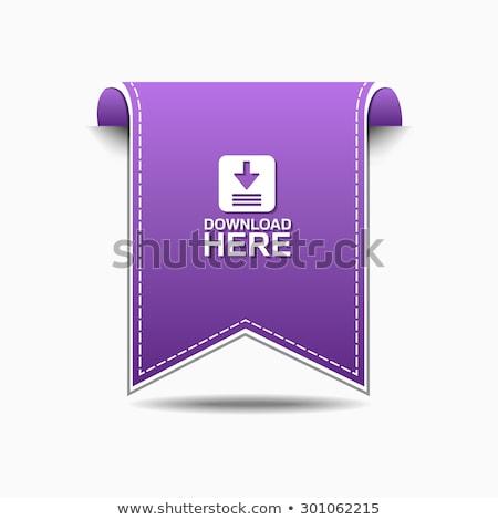 Téléchargement ici violette vecteur icône design Photo stock © rizwanali3d