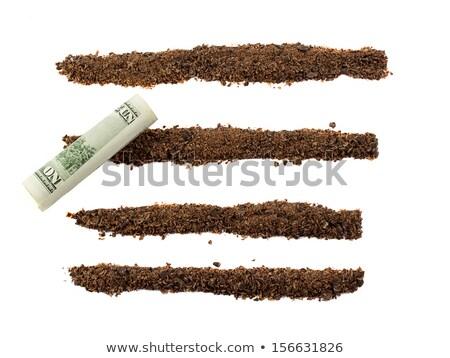 Zwarte chocolade chips geïsoleerd witte voedsel Stockfoto © GeniusKp