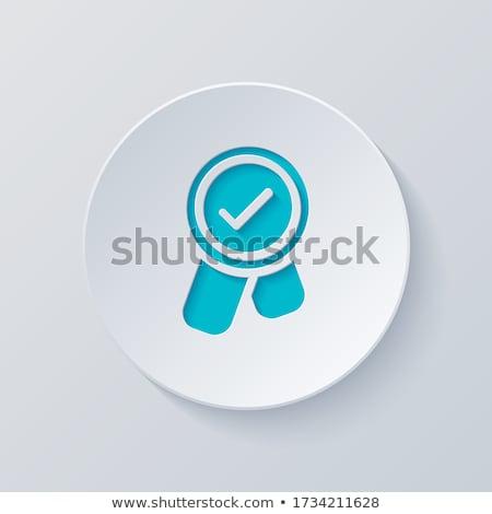 Bonus Blauw vector icon knop internet Stockfoto © rizwanali3d