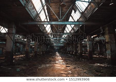 clarabóia · abandonado · fábrica · teto · escuro · interior - foto stock © camel2000
