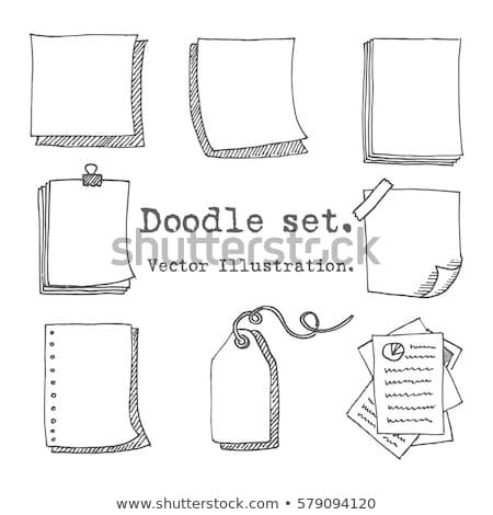 lista · rabisco · ícone · papel - foto stock © pakete