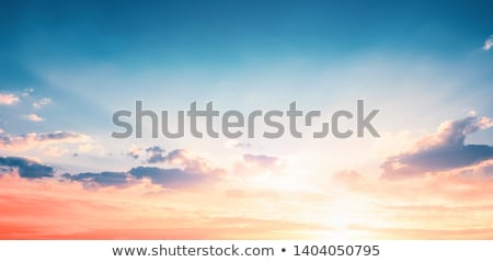 mountains with colorful blue sky at sunset stock photo © vapi