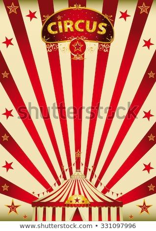 Büyü kırmızı cennet sirk bağbozumu poster Stok fotoğraf © tintin75