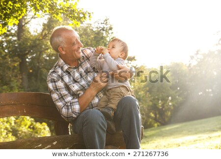 двое · мужчин · улице · улыбаясь · любви · отец - Сток-фото © paha_l