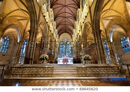 Foto stock: Catedral · interior · Sydney · Austrália · dourado · veja