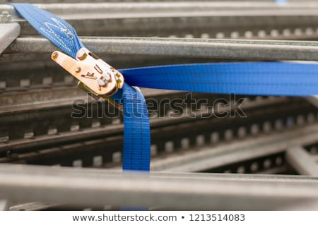 Yellow ratchet strap with copy space Stock photo © Zerbor