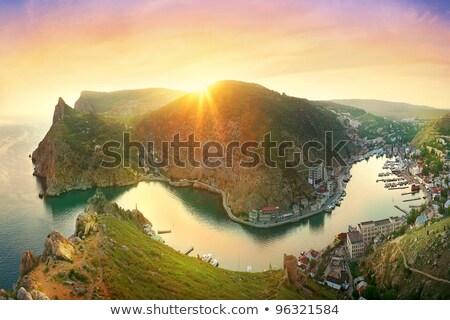 View of the rocky coast in the Crimea Stock photo © artfotoss